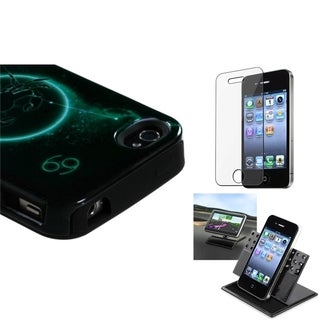INSTEN Car Dashboard Holder/ Fusion Phone Case Cover for Apple iPhone 4/ 4S