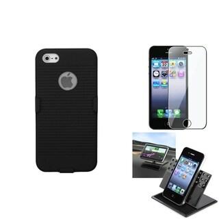 INSTEN Car Dashboard Holder/ Hybrid Holster for Apple iPhone 5/ 5S/ SE