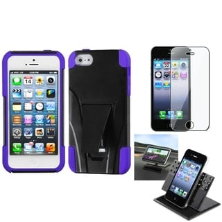 INSTEN Car Dashboard Holder/ Armor Stand Phone Case for Apple iPhone 5/ 5S/ SE