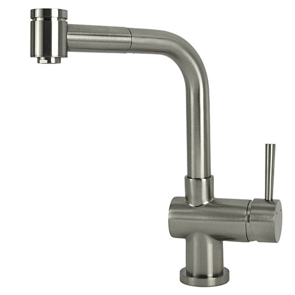 Modern Industrial Brushed Nickel Kitchen Pull Out Faucet
