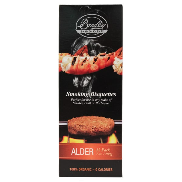 Bradley Smokers Alder Smoker Bisquettes (Pack of 12)