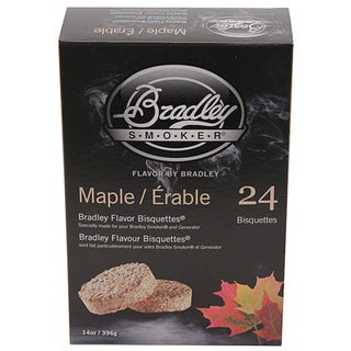 Bradley Smokers Maple Smoker Bisquettes (Pack of 24)