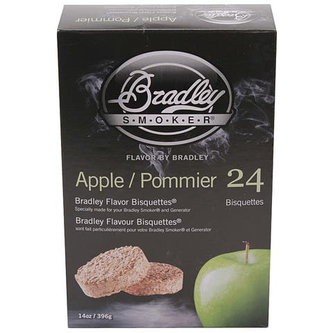 Bradley Smokers Apple Smoker Bisquettes (Pack of 24)