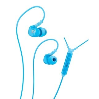 MEE audio M6P Memory Wire In-ear Teal Headphones with Microphone, Remote, and Universal Volume Control