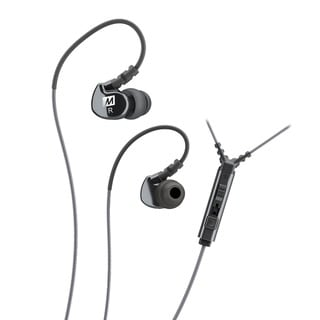 MEE audio M6P Black Over-the-ear Memory Wire In-ear Headphones with Microphone, Remote, and Universal Volume Control