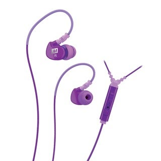 MEE audio M6P Memory Wire In-ear Purple Headphones with Microphone, Remote, and Universal Volume Control