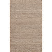 Hand-woven Poplin Rust Wool/ Cotton Rug - 2'3 x 3'9