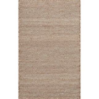 "Hand-woven Poplin Rust Wool/ Cotton Rug - 2'3"" x 3'9"""