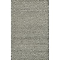 Hand-woven Poplin Smoke Wool/ Cotton Rug - 2'3 x 3'9