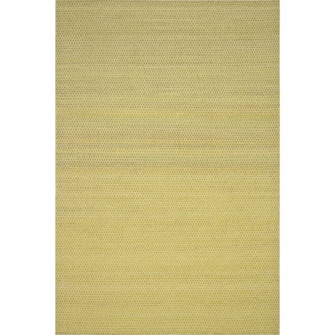 "Hand-woven Poplin Citron Wool/ Cotton Rug (2'3 x 3'9) - 2'3"" x 3'9"""