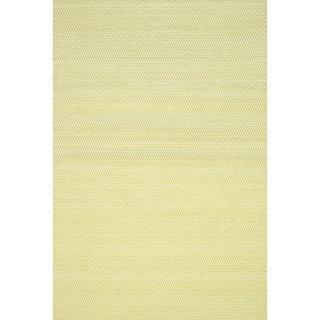 Hand-woven Poplin Citron Wool/ Cotton Rug  (5'0 x 7'6)