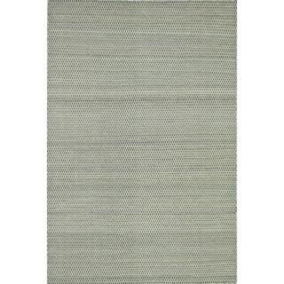 Hand-woven Poplin Charcoal Wool/ Cotton Rug (9'3 x 13)