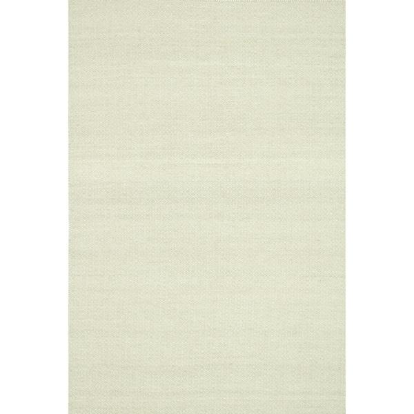 Hand-woven Poplin Beige Wool/ Cotton Rug - 7'10 x 11'