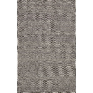 Hand-woven Poplin Plum Wool/ Cotton Rug (2'3 x 3'9)