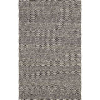 "Hand-woven Poplin Plum Wool/ Cotton Rug (2'3 x 3'9) - 2'3"" x 3'9"""