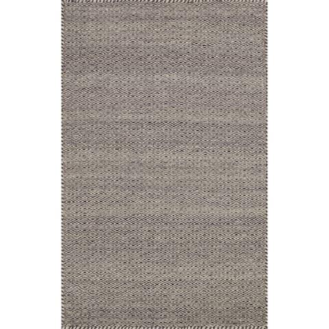 "Hand-woven Poplin Plum Wool/ Cotton Rug (2'3 x 3'9) - 2'3"" x 3'9"""