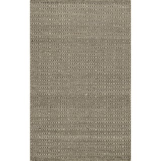 Hand-woven Poplin Chocolate Wool/ Cotton Rug (2'3 x 3'9)