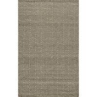 Hand-woven Poplin Chocolate Wool/ Cotton Rug - 2'3 x 3'9