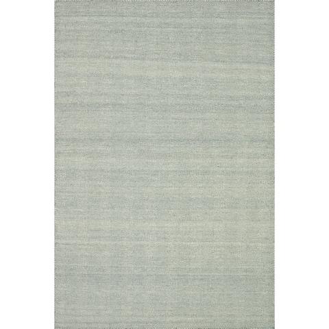 "Hand-woven Poplin Aqua Wool/ Cotton Rug (2'3 x 3'9) - 2'3"" x 3'9"""