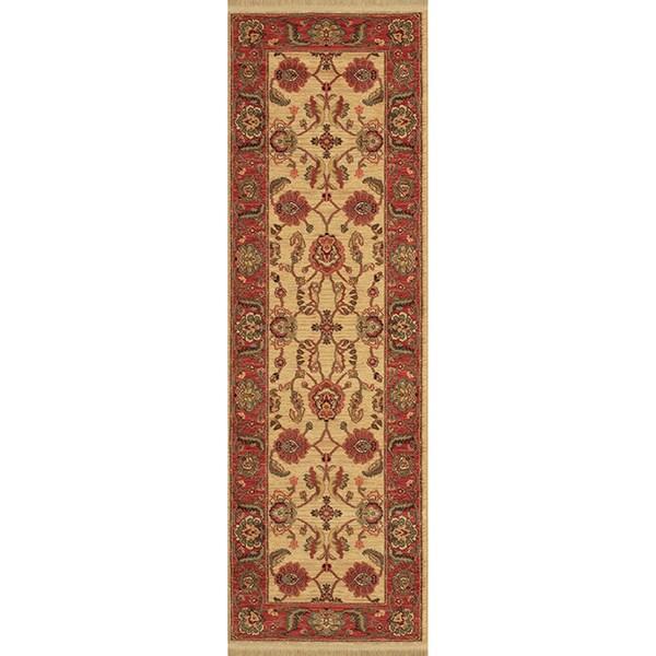 Karastan Ashara Agra Ivory Rug (2'6 X 8')