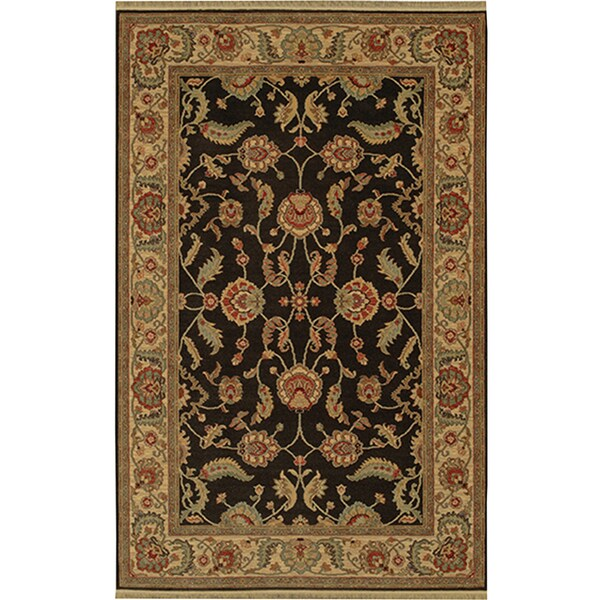 Shop Karastan Ashara Agra Black Rug (8'8 X 12')