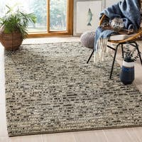 Safavieh Hand-knotted Bohemian Grey Wool Rug - 4' x 6'