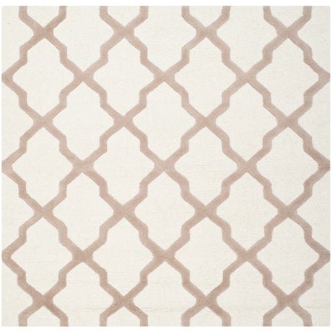 Safavieh Handmade Moroccan Cambridge Ivory Wool Rug - 6' x 6' Square