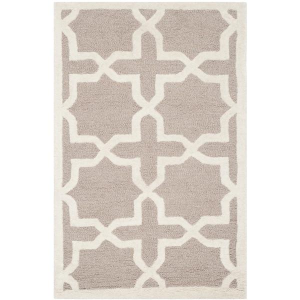 Safavieh Handmade Moroccan Cambridge Beige Wool Rug (2' x 3')