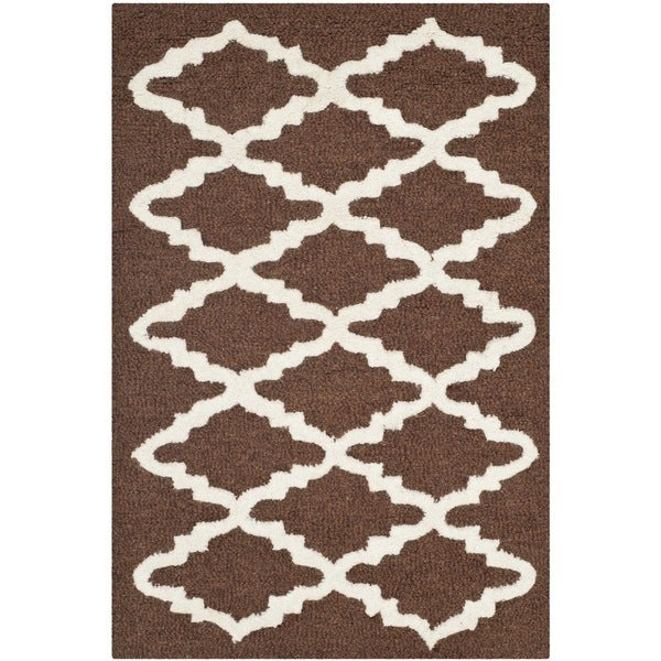 Safavieh Handmade Moroccan Cambridge Dark Brown Wool Accent Rug ...
