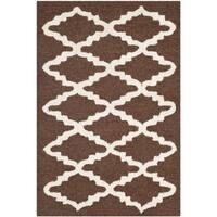 Safavieh Handmade Moroccan Cambridge Dark Brown Wool Accent Rug - 2' X 3'