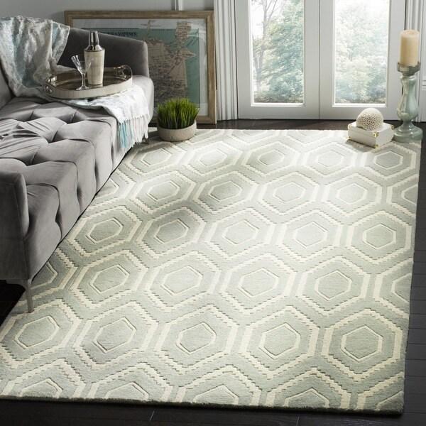 Safavieh Handmade Moroccan Chatham Gray/ Ivory Wool Rug (2' x 3') - 2' x 3'