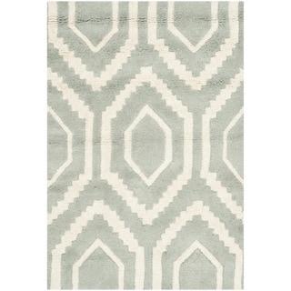 Safavieh Handmade Moroccan Chatham Gray/ Ivory Wool Rug (2' x 3')