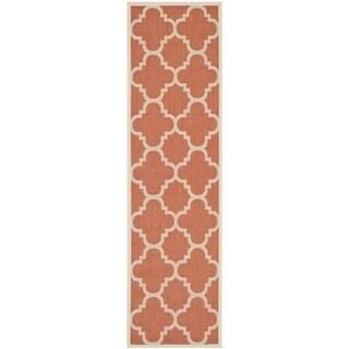 Safavieh Indoor/ Outdoor Courtyard Terracotta Rug (2'3 x 10')