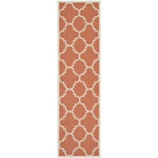 Safavieh Courtyard Quatrefoil Terracotta Indoor/ Outdoor Rug (2'3 x 8')