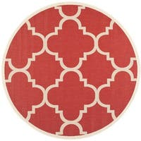 Safavieh Courtyard Quatrefoil Red Indoor/ Outdoor Rug - 5'3 round