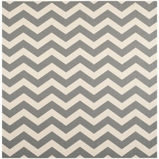 Safavieh Courtyard Zig Zag Grey/ Beige Indoor/ Outdoor Rug (7u002710
