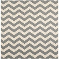 Safavieh Courtyard Zig-Zag Grey/ Beige Indoor/ Outdoor Rug - 7'10 Square