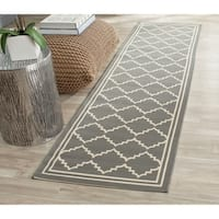 Safavieh Courtyard Transitional Grey/ Beige Indoor/ Outdoor Rug - 2'3 x 8'