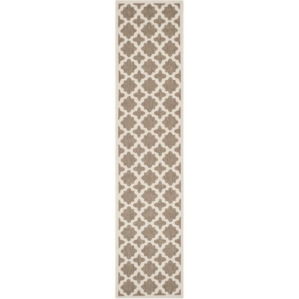Safavieh Courtyard All-Weather Brown/ Bone Indoor/ Outdoor Rug (2'3 x 10')