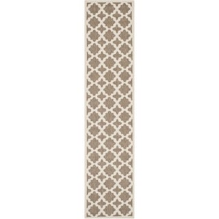 Safavieh Courtyard All-Weather Brown/ Bone Indoor/ Outdoor Rug (2'3 x 6'7)