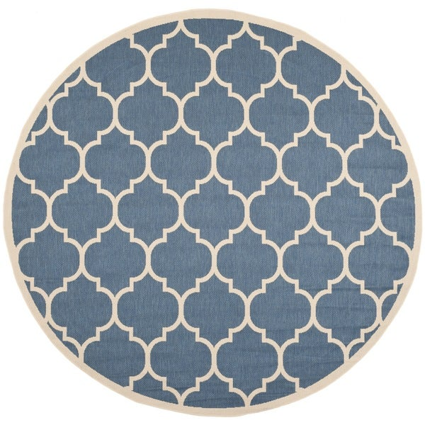 Safavieh Courtyard Moroccan Pattern Blue Beige Indoor