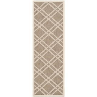 Safavieh Indoor/ Outdoor Courtyard Brown/ Bone Rug (2'3 x 6'7)