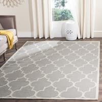 Safavieh Hand-woven Moroccan Reversible Dhurrie Grey Wool Rug - 6' x 6' Square