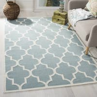 Safavieh Handwoven Moroccan Reversible Dhurrie Light Blue Wool Area Rug - 3' x 5'