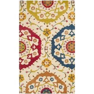 Safavieh Handmade Wyndham Dimitrika Modern Wool Rug (3 x 5 - Ivory/Multi)