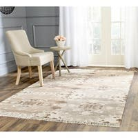 Safavieh Hand-woven Natural Kilim Grey Wool Rug - 6' x 9'