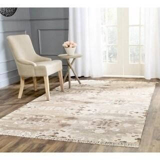 Safavieh Hand-woven Natural Kilim Grey Wool Rug - 6' x 9'