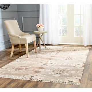Safavieh Hand-woven Natural Kilim Grey Wool Rug (8' x 10')