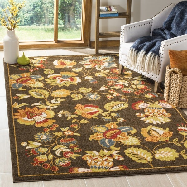 Safavieh Newbury Brown/ Green Rug - 8' x 10'