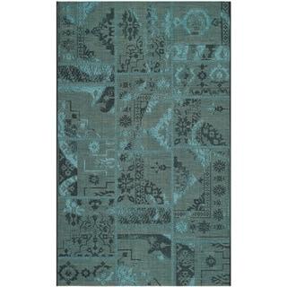 Safavieh Palazzo Black/ Turquoise Polypropylene/ O